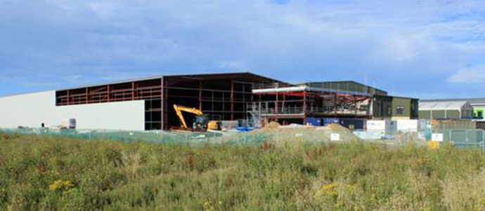 Wight Salads construction build, Chichester Fields, West Sussex
