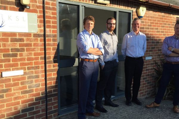 KSL Accountants outside their offices at Vinnetrow Business Park, Chichester