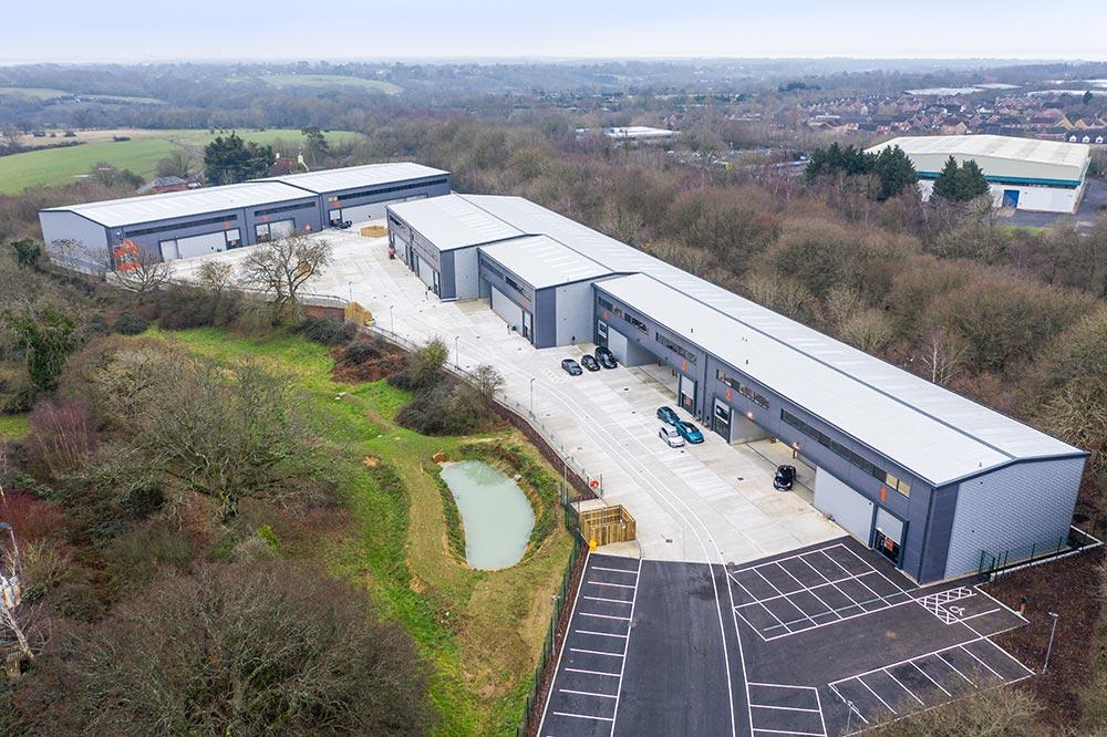 Concorde Park, Segensworth property aerial view | Kingsbridge Estates