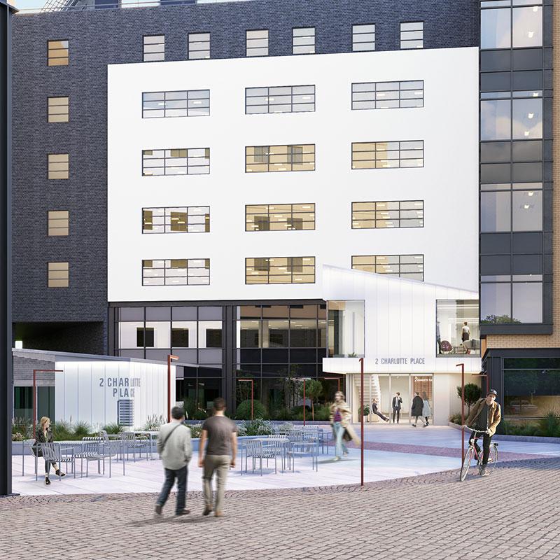 Charlotte Place offices exterior, Southampton   Kingsbridge Estates