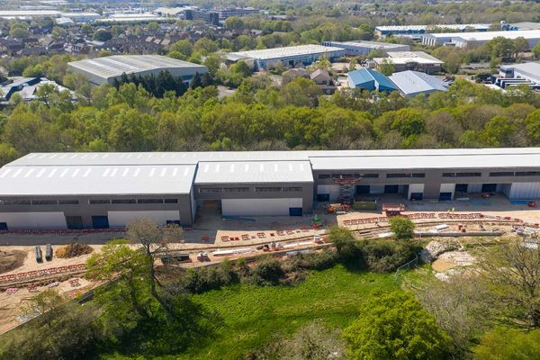 Kingsbridge Estates' new industrial and distribution scheme at Concorde Park, Segensworth near Fareham