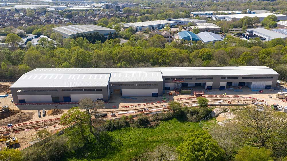 Kingsbridge Estates' new industrial and distribution scheme at Concorde Park, Segensworth near Fareham