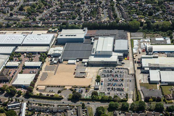Aerial shot of New Lane development, Havant, Hampshire
