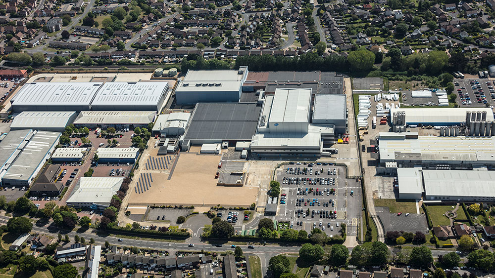 Aerial shot of New Lane development, Havant, Hampshire