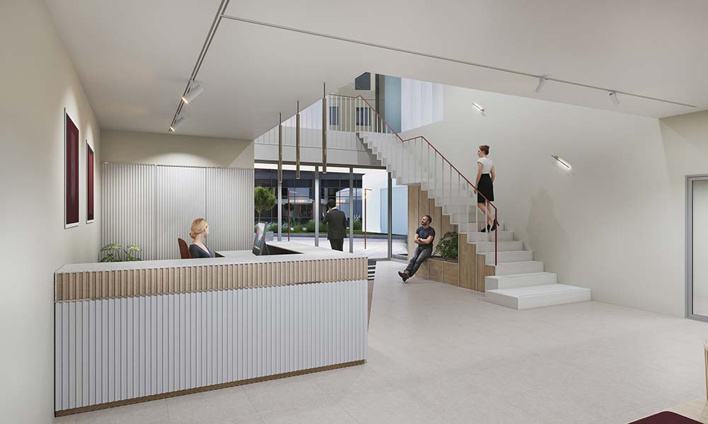 Reception visual, Charlotte Place, Southampton