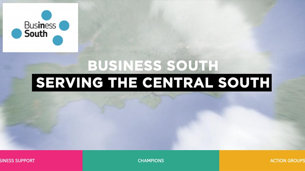 Business South log and website screenshot