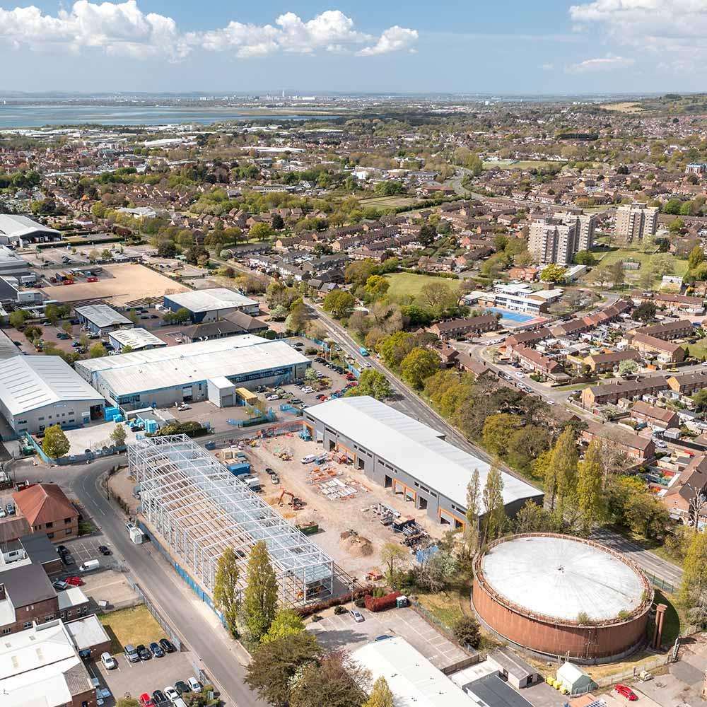 Spring Business Park build, New Lane, Havant   Kingsbridge Estates
