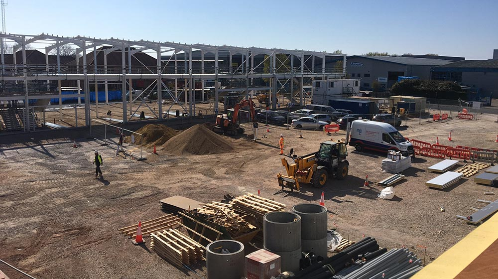 Spring business park construction in Havant | Kingsbridge Estates
